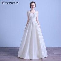 CEEWHY V Neck Open Back Lace Wedding Dress 2018 Bridal Gown Robe de Mariee Vestido de Festa Vestido de Noiva Casamento