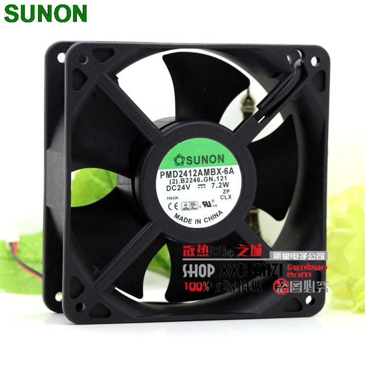 Sunon PMD2412AMBX-6A 12038 24V 7.2W 12CM inverter axial inverter fan delta 12038 12v cooling fan afb1212ehe afb1212he afb1212hhe afb1212le afb1212she afb1212vhe afb1212me
