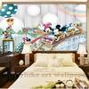 3d Cartoon  wallpaper mural children  room non woven 3d wallpaper  for kids room baby bedroom' wall  3D  wall sticker wallpaper 2