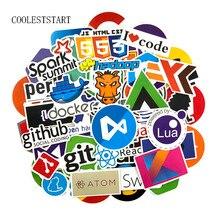 73 Pz/lotto Geek Docker Adesivi Hacker CSS di Programmazione Java Fresco Adesivi Per I Bagagli Del Frigorifero Del Computer Portatile Chitarra Autoadesivi Impermeabili