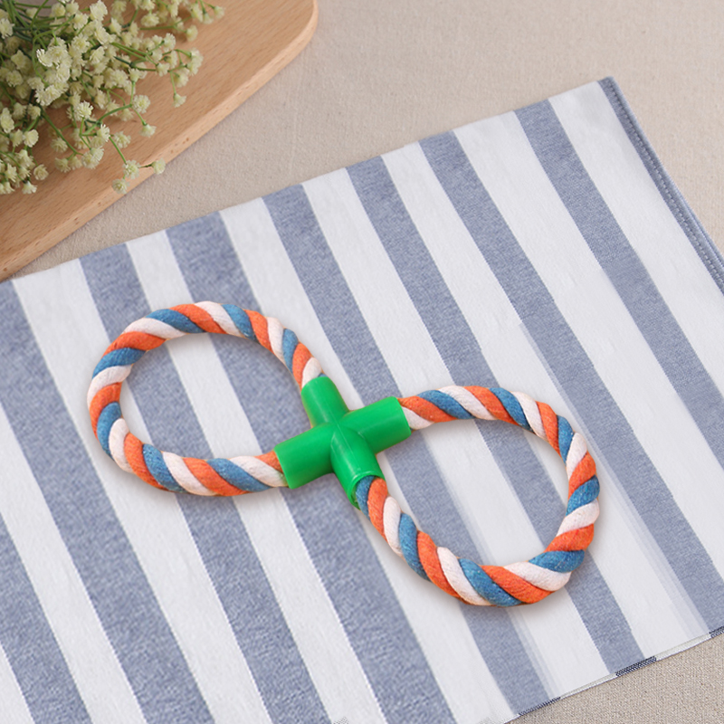 Pet Dog Toy Cotton Rope Braided 8 Shape Bone Knot Durable Molars Puppy Chew Toys Pets Products For Dogs