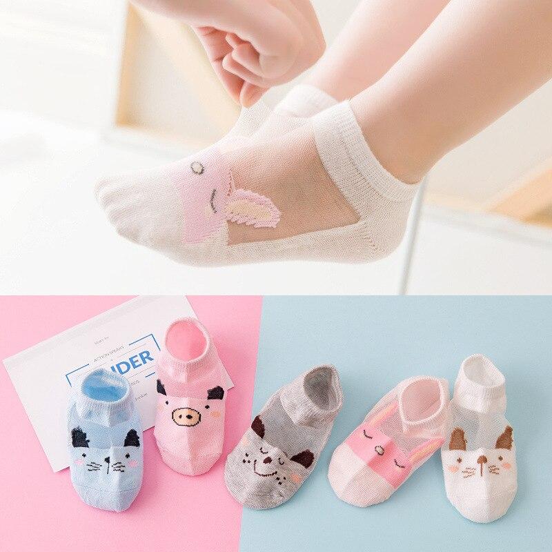 5 Pair=10PCS/lot Cut Dot Kids Socks Summer Thin Comfortable Breathable Cotton Fashion Baby Socks Toddler Girls For 0~6 Year