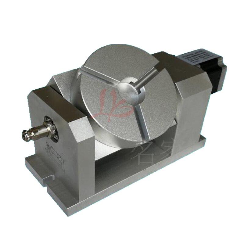 Eje giratorio CNC cabeza divisoria armónica 100:1 57 motor paso a paso