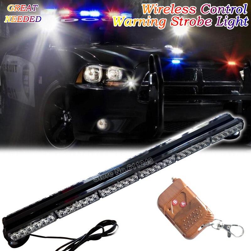 Wireless Control 12V 24V Car Roof Led Strobe Lights Bar Emergency Warning Fireman Flash 37.5 Red Amber Blue Led Police Lights