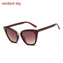 2017 new uv400 cat eye vintage солнцезащитные очки женщины топ мода черный негабаритных sexy cat eye солнцезащитные очки для женщин черный красный lentes