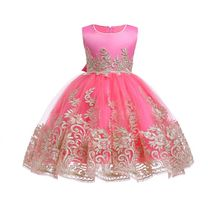 купить Girls Evening Party Dress 2019 Summer Kids Dresses For Girls Children Costume Elegant Princess Dress Girls Wedding Dress Vestido дешево