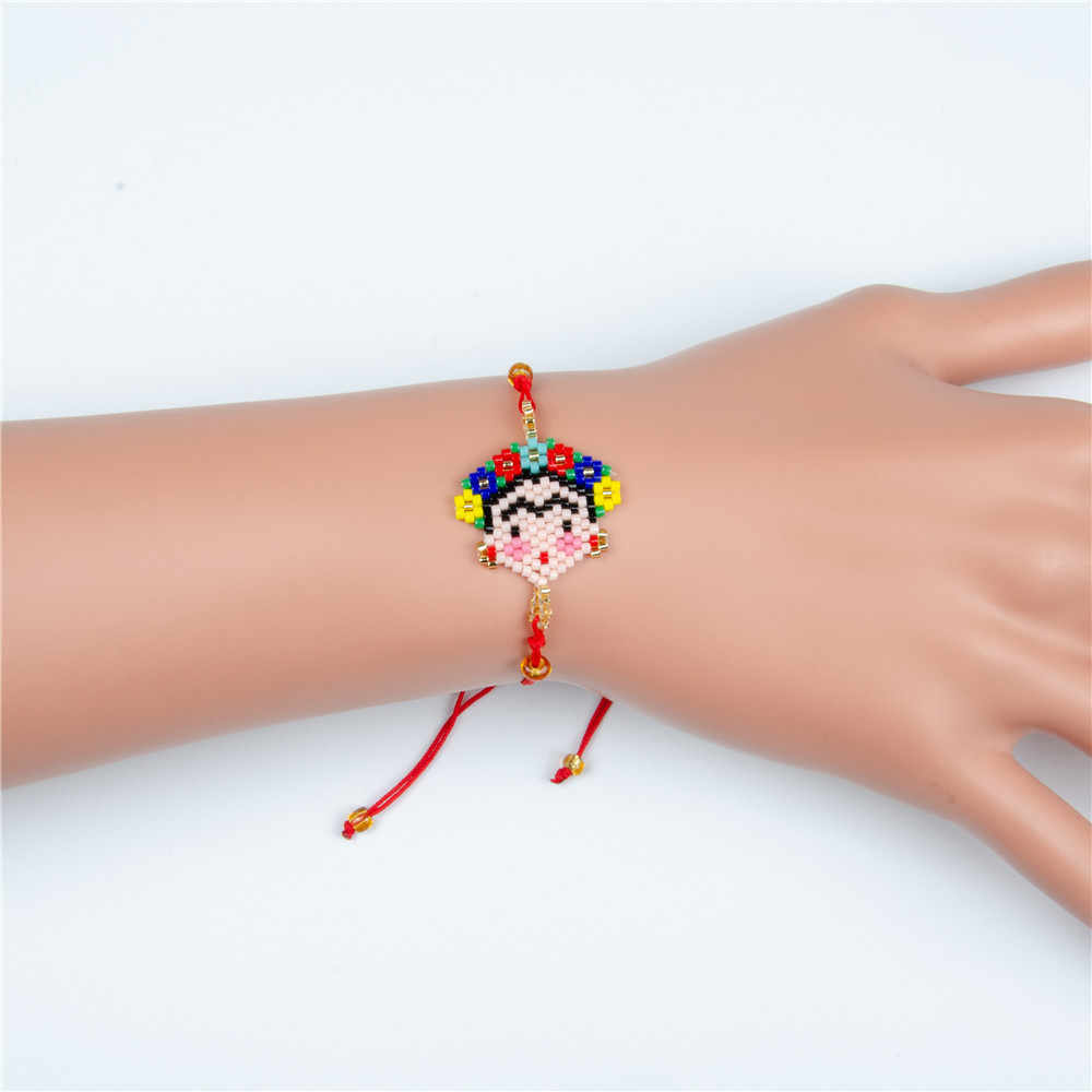2019 Newest Imported Miyuki jewelry Red Handwoven Bead Bracelet Women Gift Mexio adjustable Bracelet Best Friend Bracelet