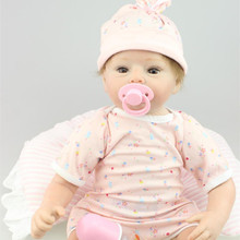 Fashion Newborn 22 Inch Silicone Reborn Baby Dolls For Kids Sleeping Partners Lifelike Realistic Reborn Babies For Baby Girl