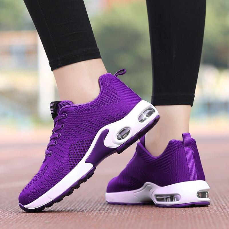 PUIMENTIUA 2019 Shoes Woman Air Mesh Cushion Women Fashion Sneakers Plus Size 42 Ladies Damping Sport Shoes Women's Flats