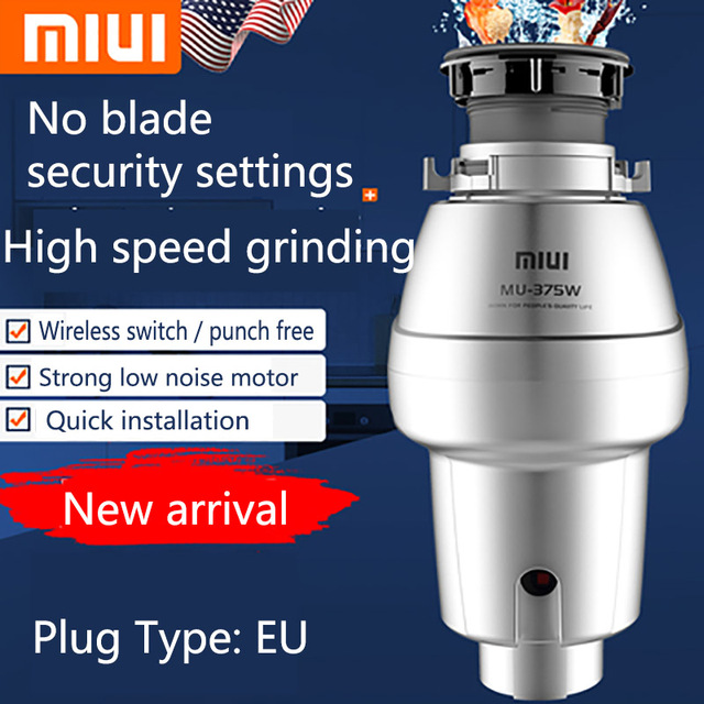 Xiaomi miui food garbage processor disposal crusher food waste disposer Stainless steel Grinder material kitchen sink appliance