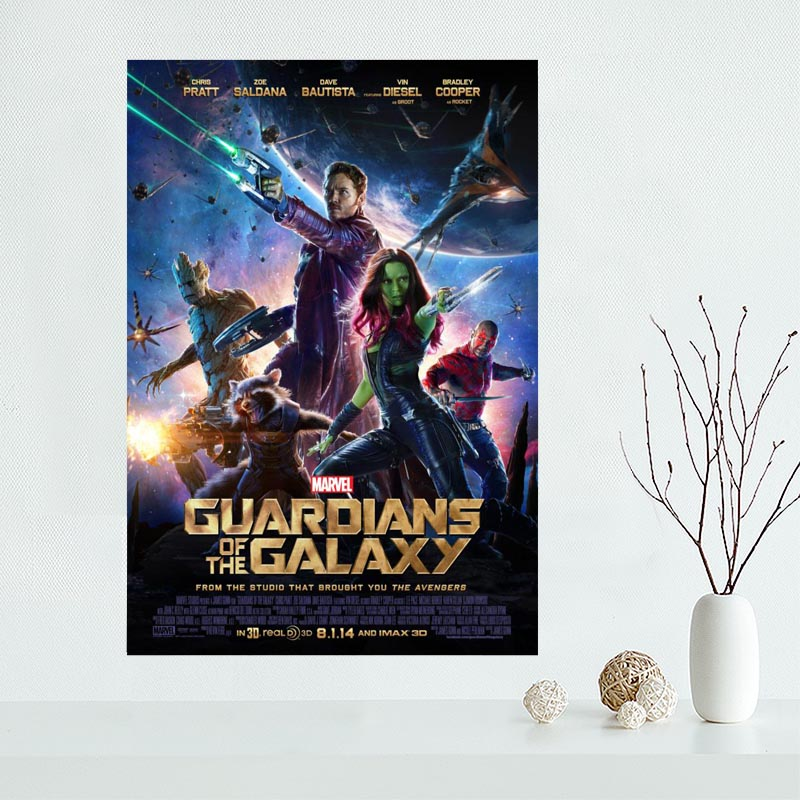 Custom Canvas Guardians of the Galaxy Poster Art Decoration Poster Cloth Fabric Wall Poster Print Silk Fabric &0028K