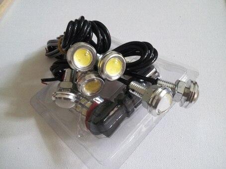Brand new 3w ultra-thin screw Silver led reverse light bulb super bright lamp eagle eye LED light 18 mm diameter Free shipping
