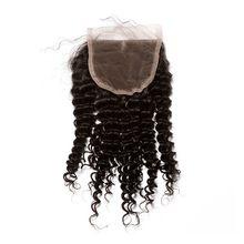Dolago – perruque Lace Closure malaisienne Remy naturelle, cheveux crépus bouclés, 5x5, pre-plucked, avec Baby Hair, nœuds décolorés, partie libre