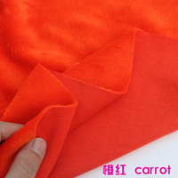 Carrot Cotton Polyester Velour Knit Fabric Luxurious kid Wear Super Soft Extra Plush Stretchy 60 Wide Sold By The Yard