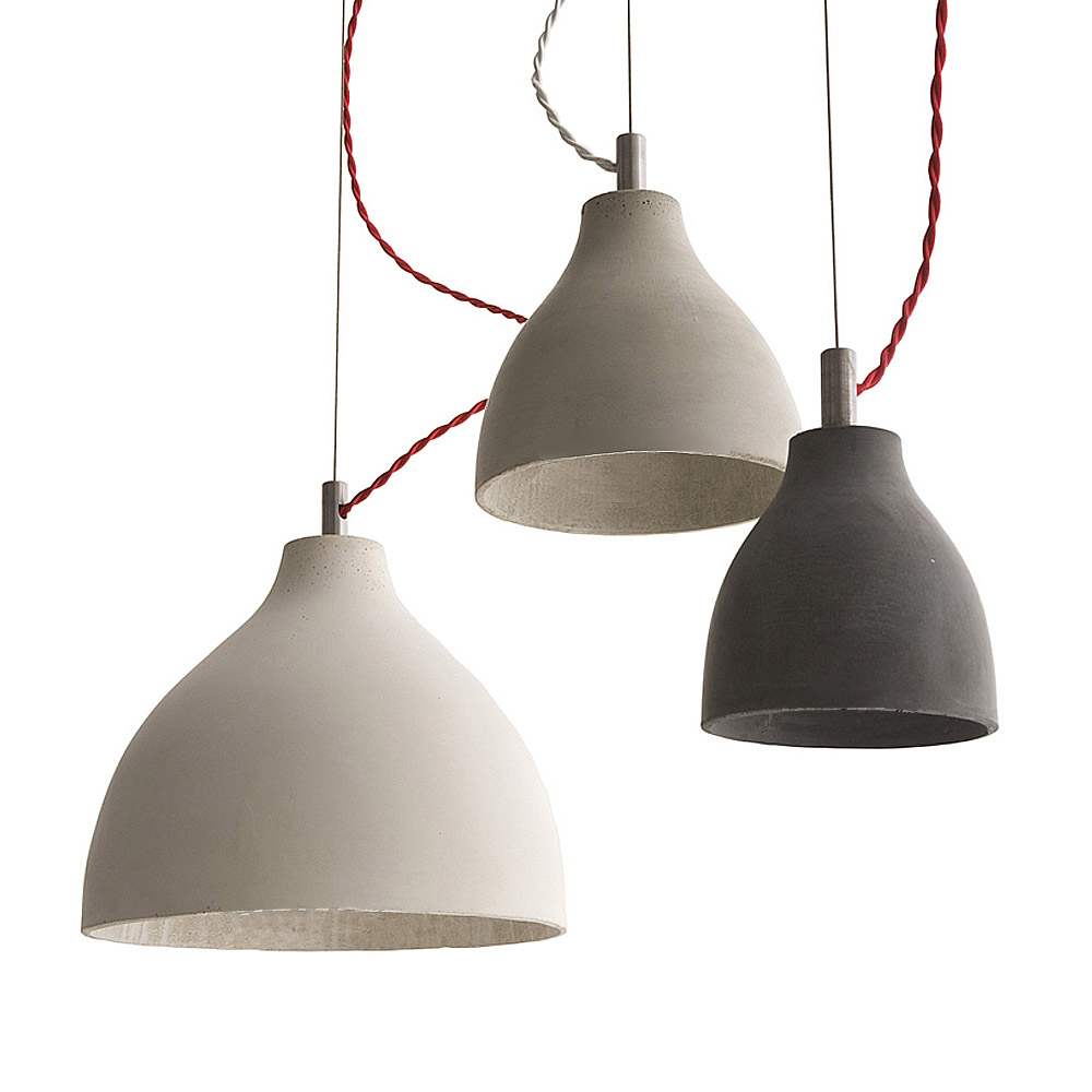 Heavy ceramic concrete pendant light hanging pendant for Modern hanging pendant lights