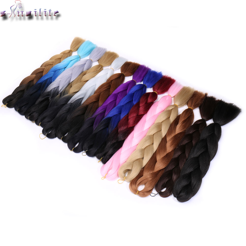 Hair Braids S-noilite 100g/piece Ombre Synthetic Kanekalon Braiding Hair For Crochet Jumbo Braids False Hair Extensions Matching In Colour Jumbo Braids