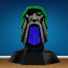Viking Odin Symbol 3D Line Lamp Odin Nordic Scandinavian 3D Optical Illusion Lamp Novelty LED Night Light Table Lamp(China)