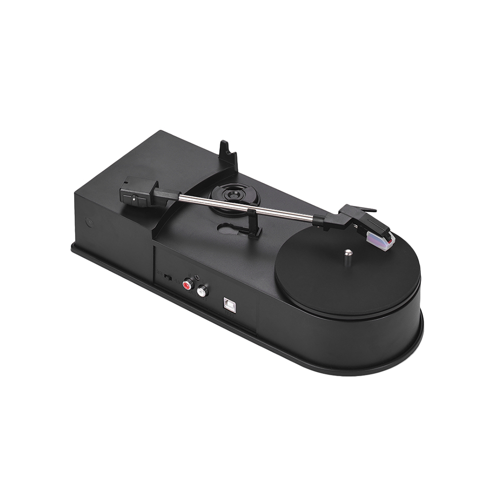 Mini USB Stereo Turntable Vinyl Record Player 2 Speed 33 45 RPM MP3 WAV Converter Function