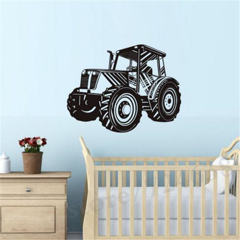 Tractor Wall Stickers For Kids Room Home Decor Removable Vinyl
