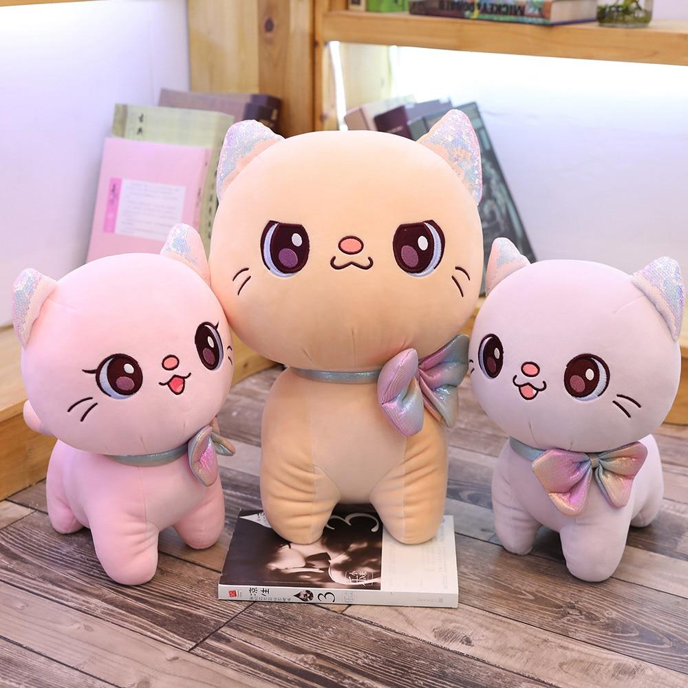 New Hot 1pc 25-45cm Mini Cute Plush Big-eyes Cat Toys Stuffed Animals Cartoon Doll Kids Girls Gifts Presents