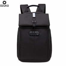 Ozuko New Oxford Backpack Mens Creative Fashion Bagpack Male Computer Packbag Youth Travel Casual Student anti-theft Back Pack