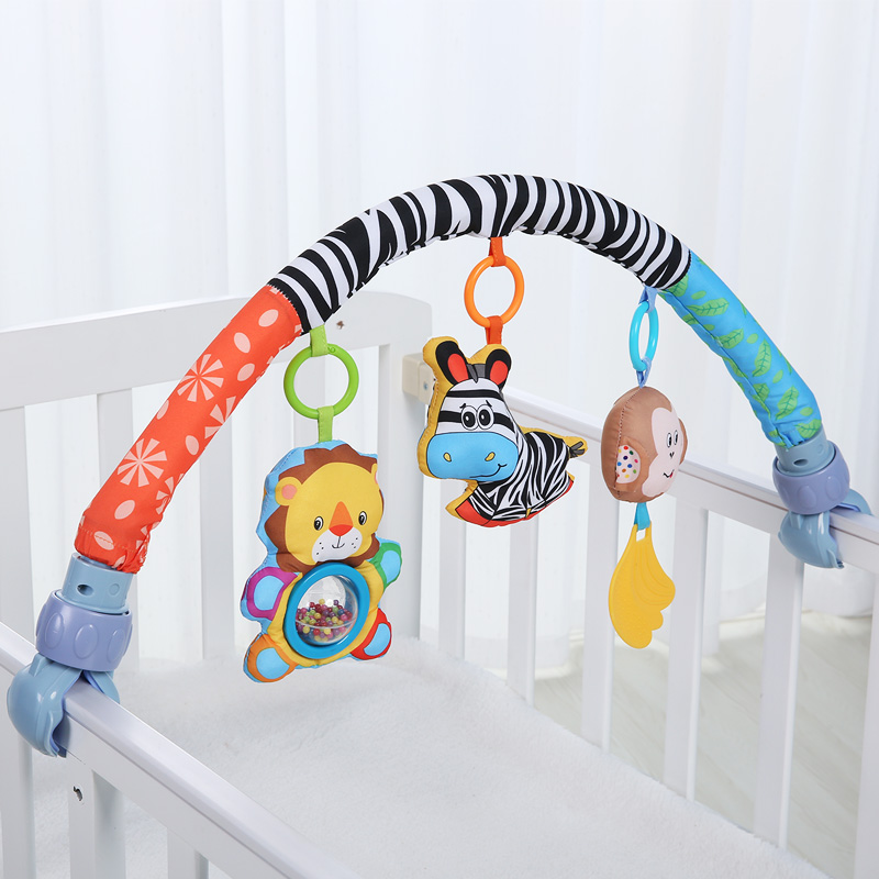 Baby Bed Around Bumper Bar Crib <font><b>Cot</b></font> Stroller Accessories For Infant Music Baby Bedding Set Toys Kids Crib Bumper