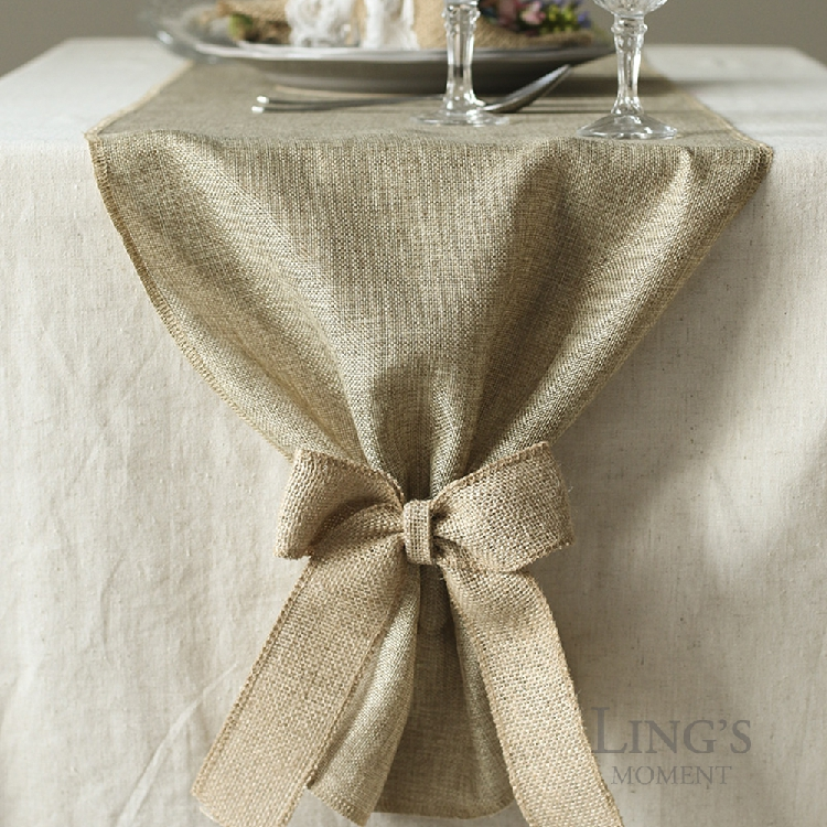Free Shipping 1 X Linen Faux Burlap Party Table Runner Table Cloth Vintage  Wedding Decorations Supply In Table Runners From Home U0026 Garden On  Aliexpress.com ...