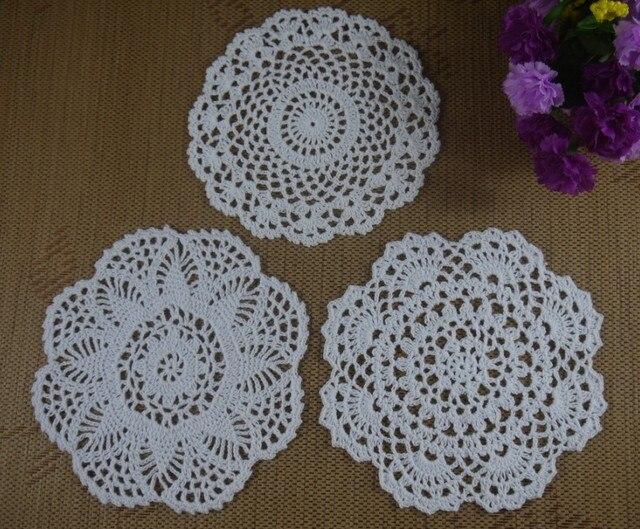 Hecho a mano Tapetes de Ganchillo patrones 3 Diseño 16 20 cm ...