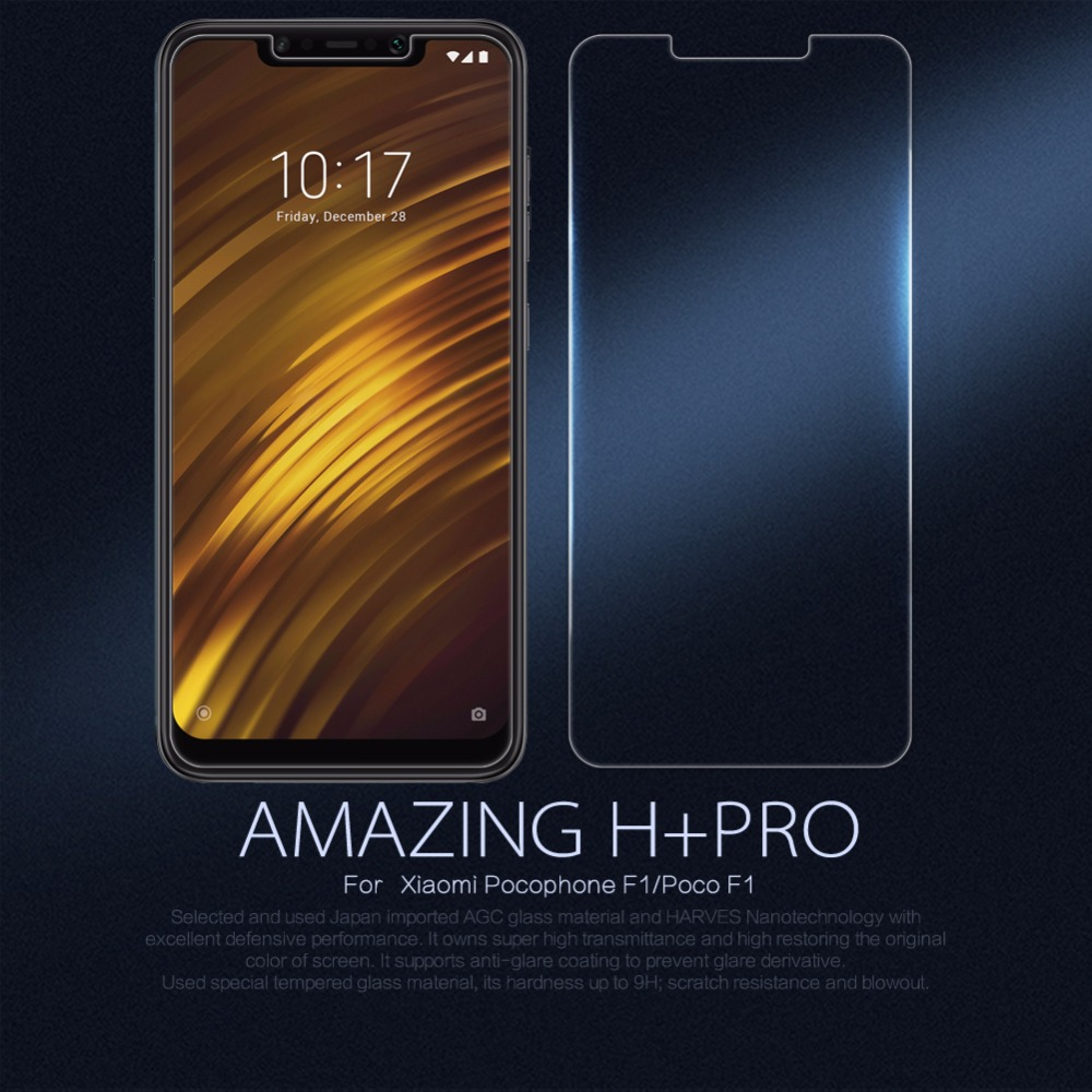 Xiaomi Pocophone F1 glass film Nillkin H+PRO 2.5D Screen Protector protective safety glass for Pocophone F1 Poco phone