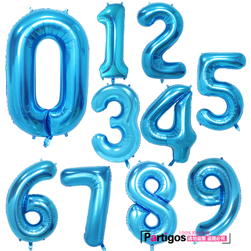 30/40 inch Rose Gold Silver Foil Number Balloons Birthday Party Decor Air Helium Number Globos Kid Baloons Birthday Balon