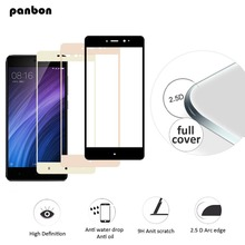 Panbon Tempered Glass Amazing H/ H+PRO Screen Protector For xiaomi redmi 4 pro 4 4x Full screen cover coverage black white gold