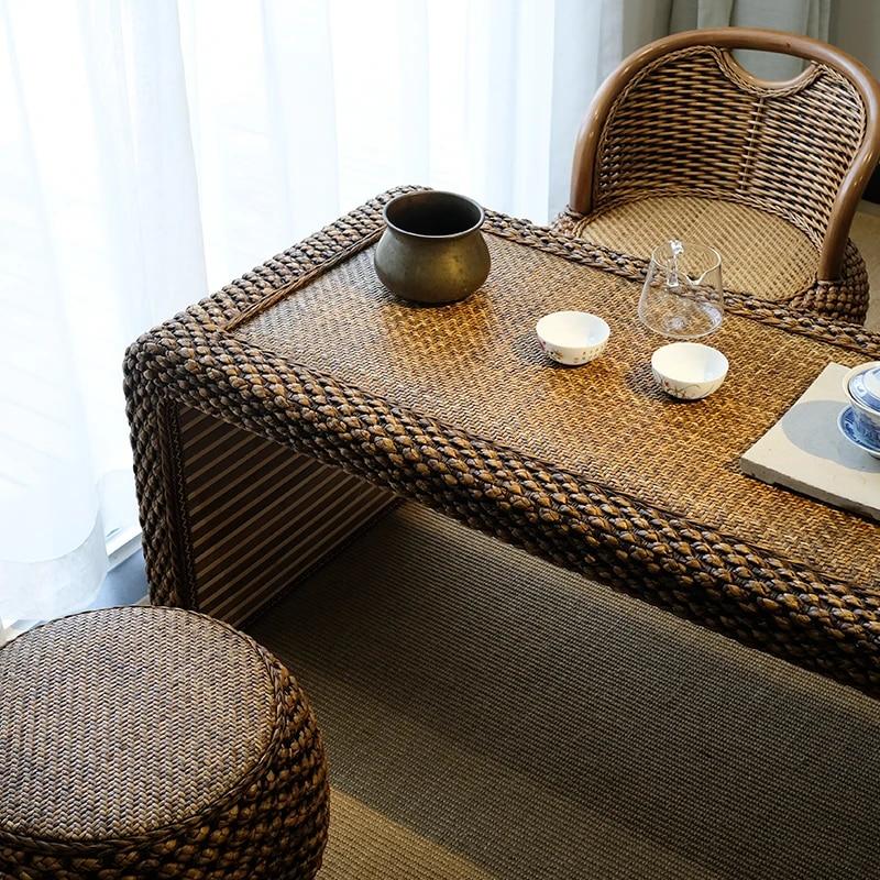 Japanese Tatami Floor Coffee Tables Rattan Wicker Tea Home Living Room Furniture Window Table Indoor Japan Chess Desk Coffee Tables Aliexpress