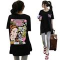 2016 Fashion women T-shirt Summer cute cartoon Letters Print harajuku t Shirt for Women Clothing Oversize Top graphic tees women