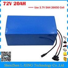 Высокое качество 2500 Вт 72 В 20AH скутер Батарея 72 В 20AH литиевых Батарея 72 В Батарея pack 3,7 В 5AH 26650 сотовый 40A BMS Бесплатная налоги