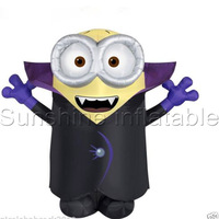 2016 newest 3m giant halloween theme inflatable minion for halloween party decoration