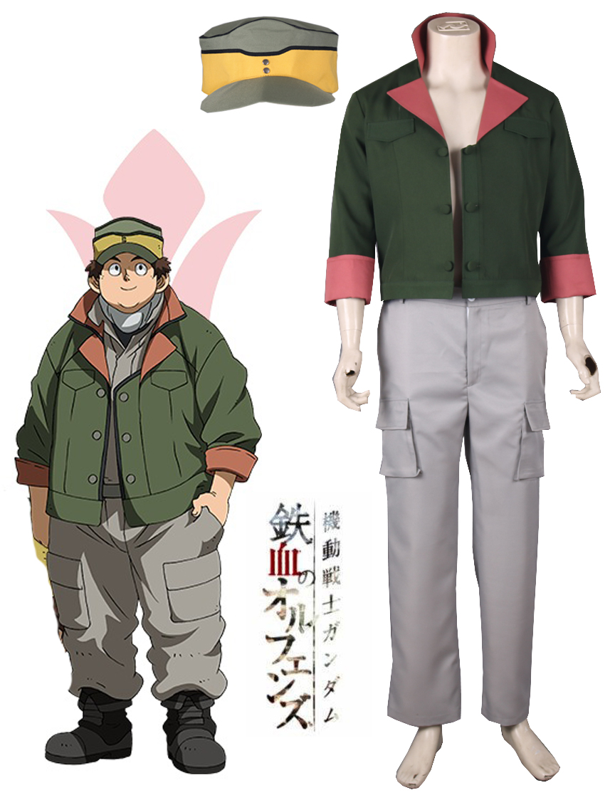 Free Shipping Mobile Suit Gundam: Iron-Blooded Orphans Biscuit Griffon Tekkadan Iron Flower Uniform Anime Cosplay Costume