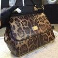 Inverno 2016 nova Sicília pós pacote de platina clássico leopardo luxo de couro de crocodilo Crossbody mobile commerce