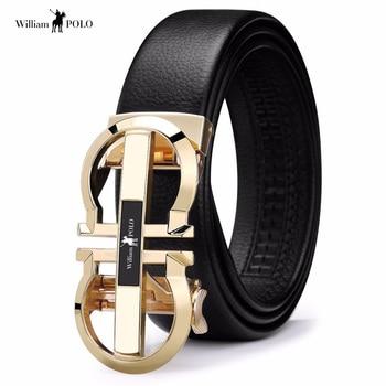 Marca de lujo de cuero de diseñador para hombre correa de cuero genuino  Correa hebilla automática de hombre de moda Casual cintura cinturón hombre  ... 870652aecee0
