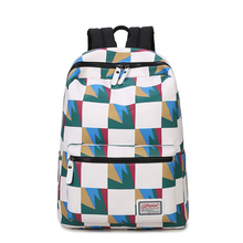 Canvas backpack men and women Korean printing tide bag large capacity computer backpack junior high school college student bag freein printing backpack women men bag 2018 waterproof polyester college haraju casual preppy style large capacity knapsack