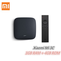 Xiaomi Mi 3C TV Box 4K 64bit Android 5.0 Media Player Quad Core Amlogic S905 1GB RAM 4GB ROM Dolby DTS HDMI Set Top Box