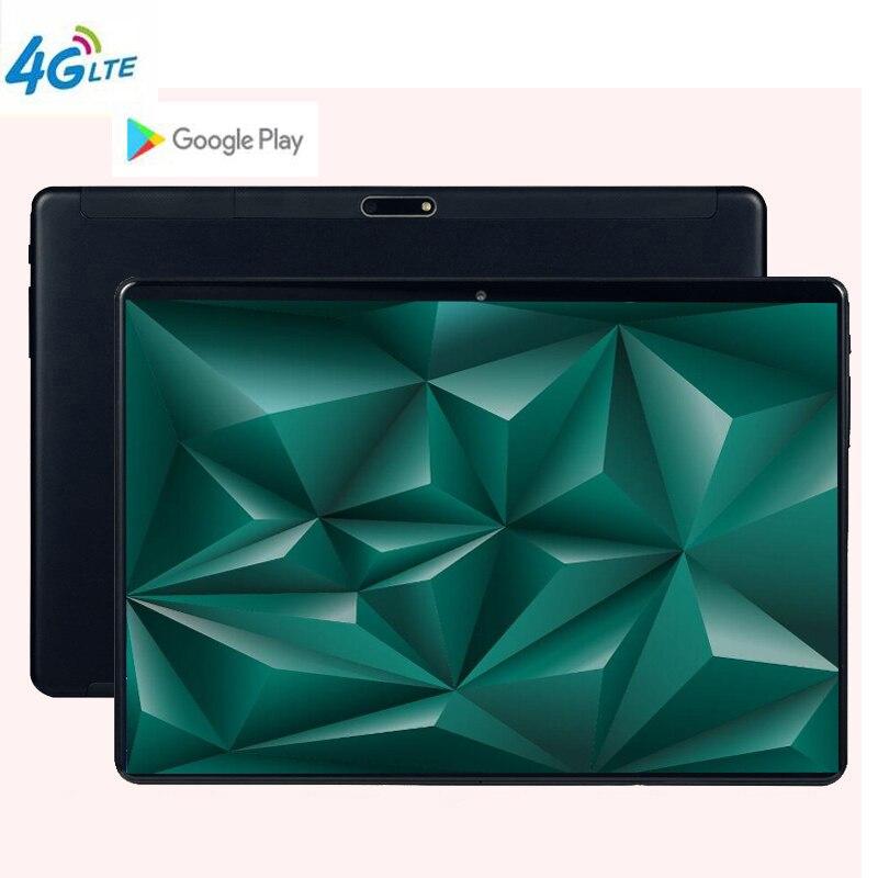MTK6797 Android 9.0 10 Dez Núcleo 10 polegada Tablet PC 8.0MP 6 GB de RAM 128 GB ROM WIFI A-GPS 4G LTE 2.5D IPS Vidro Temperado 1920 1200