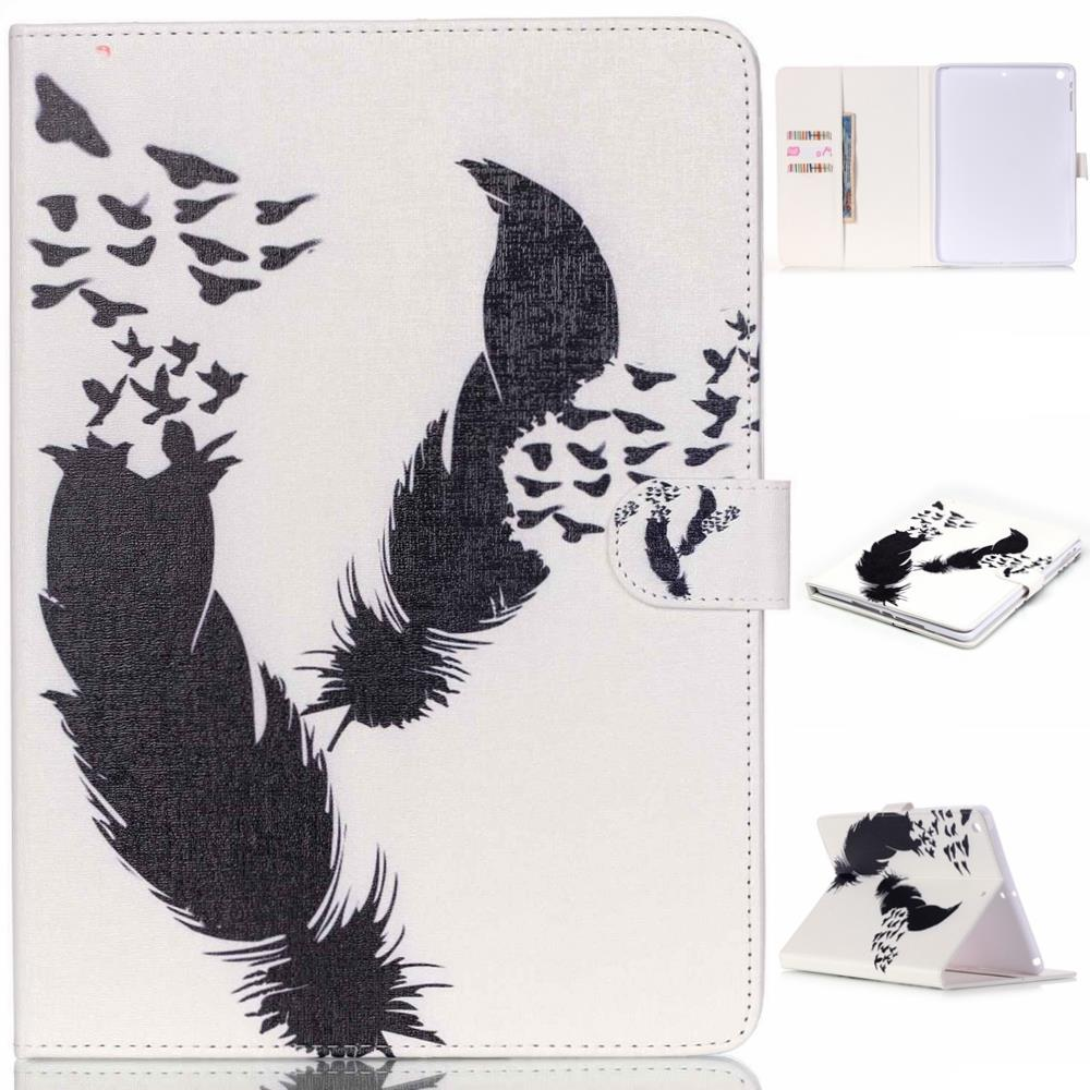 Feather PU Leather Protective Case Cover For Apple ipad 2 3 4 5 9.7 Tablet Sleeve Cover for Apple iPad air 1 2 iPad mini 4 3 2 1