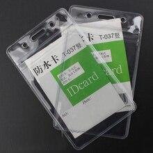 20 Pieces/Lot Vertical ID Badge Holders PVC name card credit certificate plastic Waterproof transparent Storage