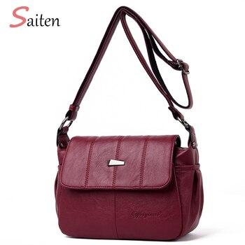 2019 Vintage Women Handbags High Quality PU leather Casual Tote Bag Luxury Shoulder Messenger Bags Design Women Bag Sac a Main tote bag