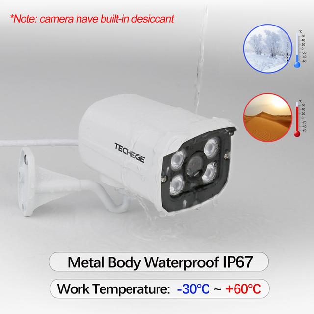 Techege HD 1080P Wireless SD Card Slot Audio Camera 2.0MP wifi Security Camera IR Night Vision Metal Waterproof Outdoor Yoosee