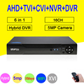 Dahua panel XMeye Hi3531D H265+ 5MP 4MP 16CH 16 Channel 6 in 1 Hybrid WIFI TVi CVI NVR AHD CCTV DVR Surveillance Video Recoder