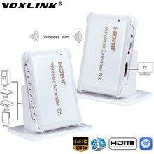 VOXLINK 1080 P Drahtlose HDMI Extender Video Audio Übertragung 30 Mt/100ft Sender + Empfänger Mit HDMI1.4 HDCP1.4 3D für HDTV STB DVD