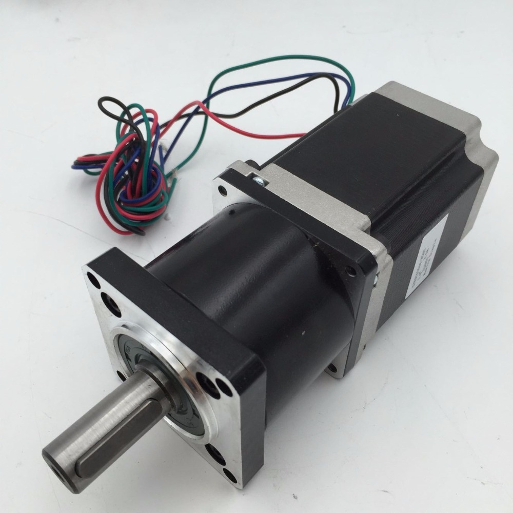 Ratio 5:1 NEMA23 Planetary Geared Stepper Motor 57mm L112mm 3A 4Leads 2 Phase + M542 Drive Kit For DIY CNC Router 57mm planetary gearbox geared stepper motor ratio 10 1 nema23 l 56mm 3a