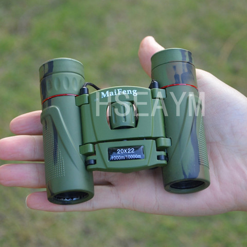 20X22 MINI Binoculars Telescope Field-glass Camouflage  Hunting Tourism Spotting Scope Portable Pocket Telescopio Green Film Karachi