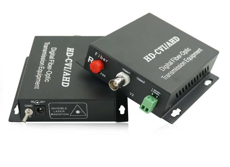HD Video AHD CVI TVI 3in1 Fiber Optical Converter, 1ch 720P Video With 1ch RS485 Data,FC Port,single-mode Single Fiber 20km